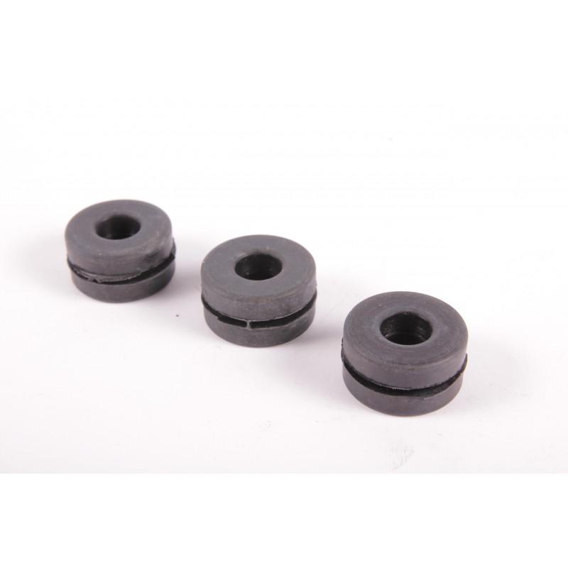 Set 3 pezzi gommini fissaggio supporto filtro aria carburatori